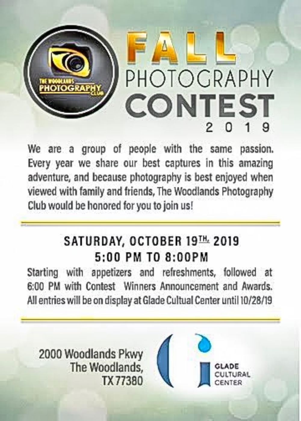 Woodlands Photography Club Fall Contest
